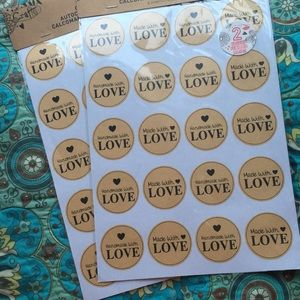 Handmade with LOVE Sticker Labels